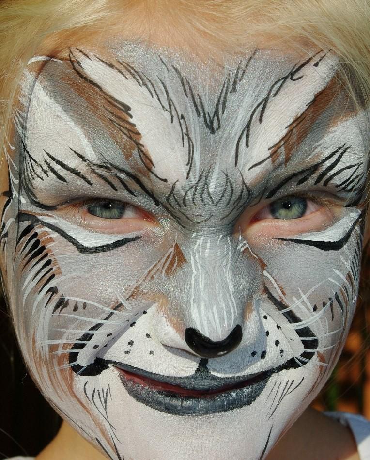 Guaj Yüzündeki Kurt Maskesi çocukları çizin Boyalı Maskeler Için