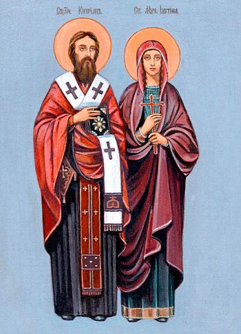 Кипріян і Устина від чаклунства. Ікона Кипріян і Устина - значення, у чому  допомагає, історія.