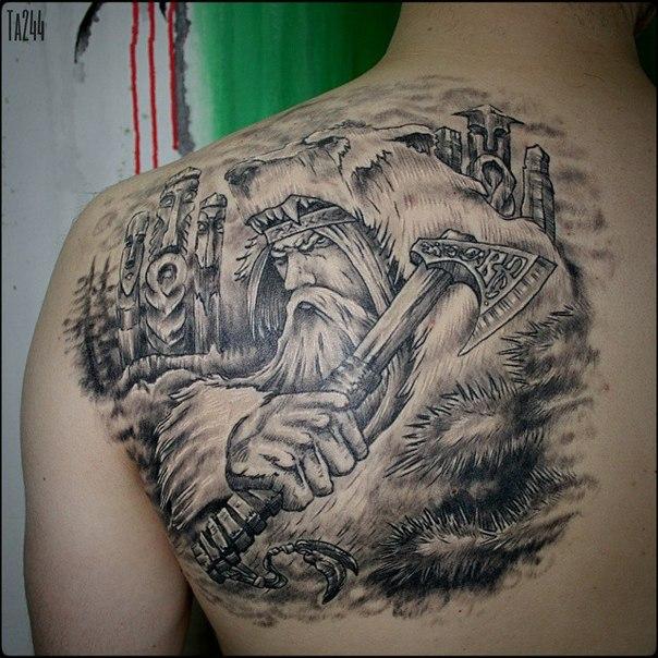 Batalistyczne Tatuaże Dla Mężczyzn Pogańskie Tatuaże Słowian