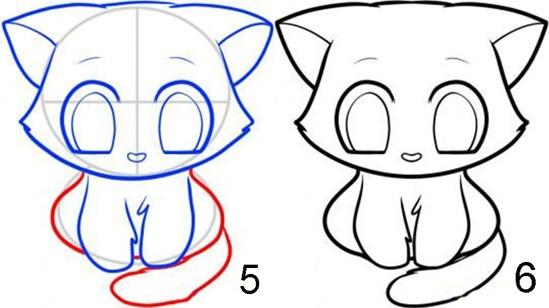 Kedi Kafası Boyama